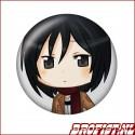 Attack on Titan Mikasa button