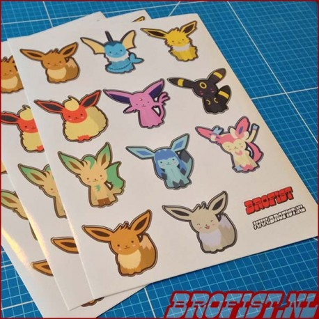 Sticker sheet eeveelutions