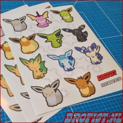 Sticker sheet Shiny Eeveelutions