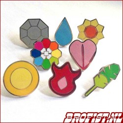 Pokémon Gym Badges Kanto