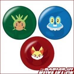 Kalos Starter Pokémon buttons
