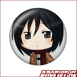 Attack on Titan Mikasa button