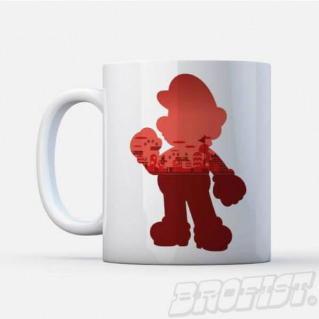 Super Mario mug: Silhouette Mario