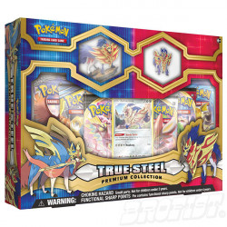 Pokémon TCG: True Steel Premium Figure + Pin Collection - Zamazenta