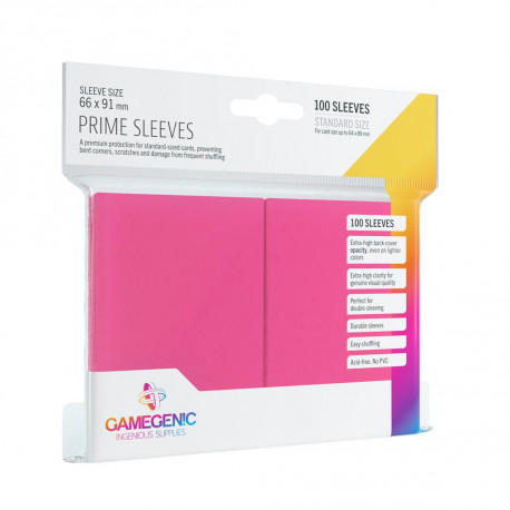 Gamegenic Sleeves - Prime Pink (100)
