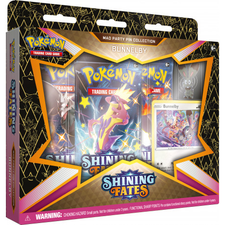 Shining Fates Bunnelby Mad Party Pin Collection - Pokémon TCG