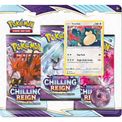 Chilling Reign Snorlax 3-Booster Blister - Pokémon TCG