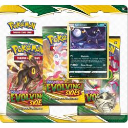 Evolving Skies Umbreon 3-Booster Blister - Pokémon TCG